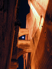 Arco (AntonioArcos aka fotonstudio) Tags: old espaa moon white castle calle spain doors colours shadows luna walls cdiz castillo arcos iluminacin fotonstudio travelerphotos