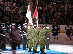 National Anthem @ centre ice