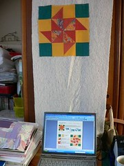 PJS 1.FlyingX (qusic) Tags: colour ikea westminster germany design pattern quilt sampler wip sew textile fabric german jungle blocks kit easy patchwork bom quiltalong csquiltdesign blickfangquilts easyangle flyingx learnquilting qusic