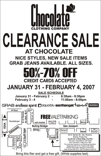Chocolate Clothing Co's. WAREHOUSE SALE!!!