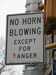 Blow Horn in Anger (The Loopweaver) Tags: newyorkcity signs newyork sign brooklyn traffic humor parkslope explore signage roadsigns trafficsigns carrollstreet 7thavenue seventhavenue gowanuslounge inexplore brooklynian