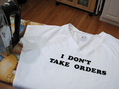 I don't take orders