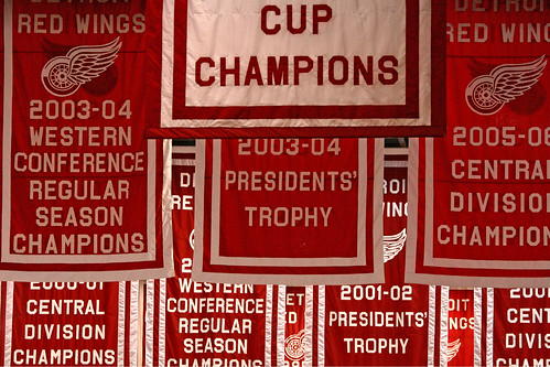 Red Wings banners