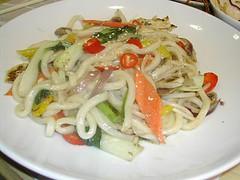 RICE NOODLE urDON CHILLI CHICKEN (CANDYTANGERINE) Tags: cambridge chicken restaurant rice noodle chilli yippee urdon