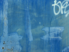 Grunge Art (sonofsteppe) Tags: street door blue urban abstract detail art texture metal graffiti iron paint hungary turquoise metallic painted tag grunge budapest surface bleu explore abstraction visual exploration scribble fragment bluish partof scribbled sonofsteppe pusztafia haphazartblue
