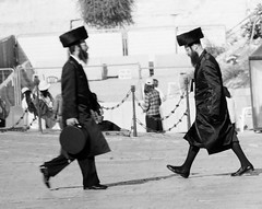 Rabbi vs another rabbi (zvipix) Tags: wall israel jerusalem jewish rabbi yarmulke hasidic wailing kippa