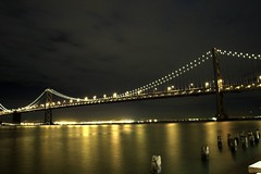 Bay Bridge (Joyce Pedersen) Tags: nightshooting sanfrancisco shootingwithnathalie embarcadero joyce joycepedersen