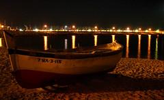 Painted water (Rubinho1) Tags: sea espaa reflection beach port puerto boat mar spain barca playa reflejo catalunya hdr catalua platja reflexe mataro espanya rubinho1