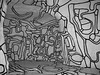 Outline (Its Laz) Tags: wild white abstract black paris france sexy art museum contrast crazy gallery graphic drawing interior space exhibition dubuffet line cave form outline visual bold volume cotcbestof2006