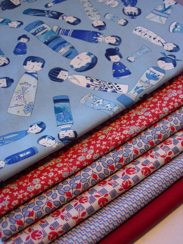 Blue & Red Fabrics