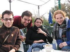 Café Paul Ricard à Méjanes: Drew, Jonathan, Emilie, et Moi (kahala) Tags: dru velo camargue balade jonathanhull katherinehala arlesbykahala
