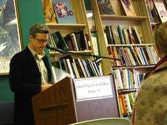 Reading 3 (abbyladybug) Tags: reading poetry christopher raleigh bookstore poet poetryreading quailridgebooks