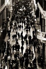 Pensiero's Nightmare (Pensiero) Tags: street people blackandwhite bw rome roma sepia ants nightmare portfolio viacondotti