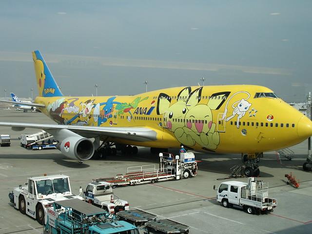 Avión Aerolínea ANA Pokémon Pikachu 11