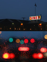 welcome to new jersey. (solecism) Tags: highway diptych traffic diner taillights gardenstate