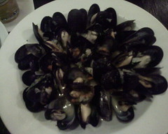 Mussels steamed in ale at Cafe Hollander