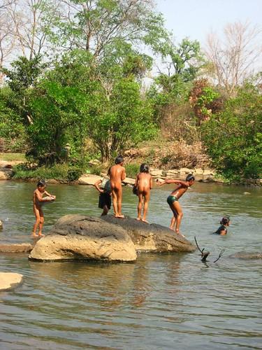 Naked boys water fall 14