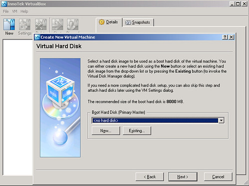 VirtualBox - virtualMachine - openSUSE10.2 - Virtual Hard Disk 1