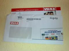 Brief von der WAZ