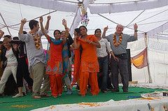 Richard And Seth Dragged Onstage (ReSurge International) Tags: charity girls india dance dancing medical nurses ngo punjabi w07 npo interplast jalandhar sethmazow richardgillerman