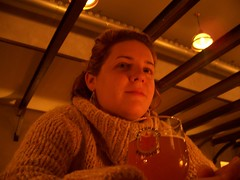 Jenn at our favorite brewery