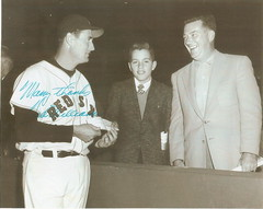 My grandfather and uncle with Ted Williams
