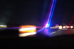 Blurred police lights (lowlight168) Tags: light slr digital d50 50mm nikon highway police lowlight168