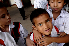 Blue Eye Brown Eye (justrollthedice) Tags: poverty thailand war asia blind secret center vietnam national sight southeast laos hearing bombing prosthesis blindness vientiane amputation amputee rehabilitation deafness nationalrehabilitationcenter nationalrehabiitationcenter