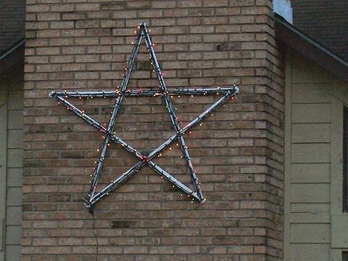 Star on chimney