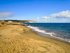 YAVERLAND BEACH.  SANDOWN ISLE OF WIGHT UK.