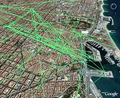 flickr_traces_oct-dec2006 (fgirardin) Tags: barcelona trace visualization geotagging