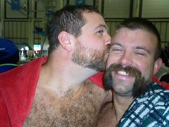 Matty and Peder (LB Bearcub) Tags: bear hairy men kiss beards grunions