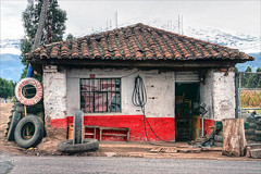 Tire Repair business on the road from Quito to Otavalo (lightpainter) Tags: volcano ecuador tires business equator pichincha