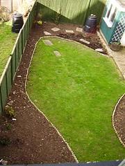 Back garden November 2006