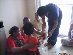 140_0056 (S Jagadish) Tags: bangalore mama taking mahesh amma indira trichy appa thatha paati jaagruthi grihapravesam natarajan aarathi jagadish krithi gruhapravesam homam marathahalli 200612 paavadai purvariviera