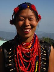 Pochury girl smiling (dibopics) Tags: india festival tribal assam hornbill kohima nagaland dances dimapur dibopics angami chakhesang rengma pochury