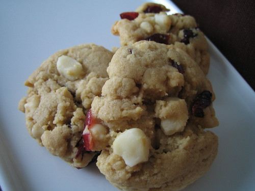White Chocolate, Cranberry and Macadamia Nut Cookies