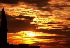 7 C - 3:59 pm (Eus) Tags: sunset italy church clouds italia tramonto nuvole chiesa nuages glise italie coucherdesoleil pordenone santamariadellegrazie skyarchitecture nohdr