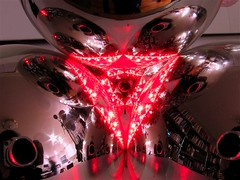 Laser7 (oskay) Tags: christmas reflections diy shiny chaos ornament laser physics fractal optics