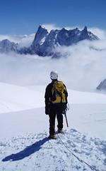 Steve facing Deant Geant (featuresforfeet) Tags: france chamonix alpineclimbing