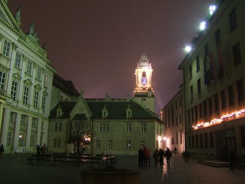 Bratislava - centru, noaptea
