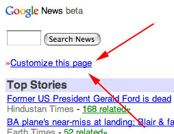 Customize Google Mobile News