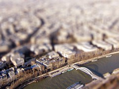 Paris February 2004 01 (Littlepixel) Tags: paris photoshop miniature fake mini eiffel fts tiltshift toytown lensblur railwaylayout