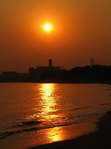 夕照蝴蝶灣 | sunset at the beach