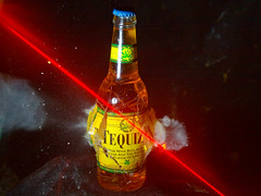 tequiza (nebarnix) Tags: beer 22 bottle guns bullets shatter highspeed tequiza
