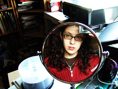 Day 8: Mirror, Mirror (Angela.) Tags: selfportrait mirror fuji f10 finepix fujif10 angela spacegirl 365days
