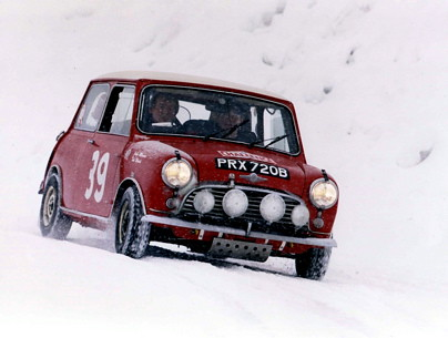 Rallying in snow