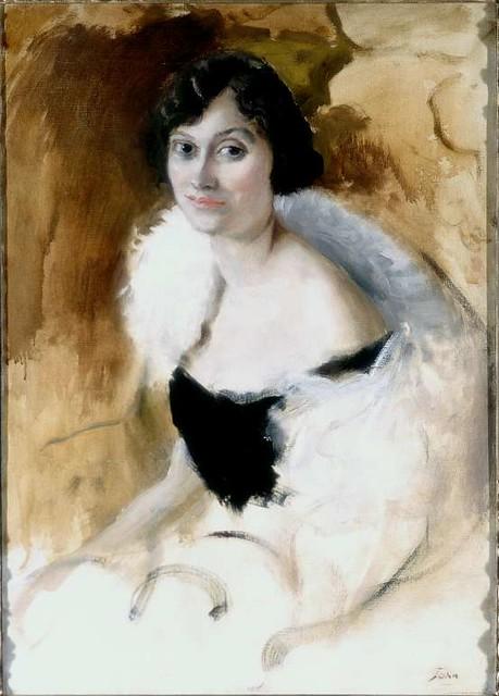 Pss Antoine BIBESCO - Lady Elizabeth ASQUITH by  Augustus John 1919 by londonconstant