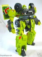 Juguete del Transformer Ratchet de perfil