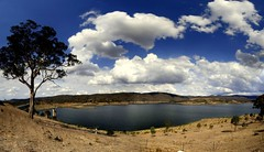 Googong dam (NavindaK) Tags: autostitch panorama seascape water canon wow landscape sigma australia wideangle reservoir stitched sigma1020mm googong googongdam